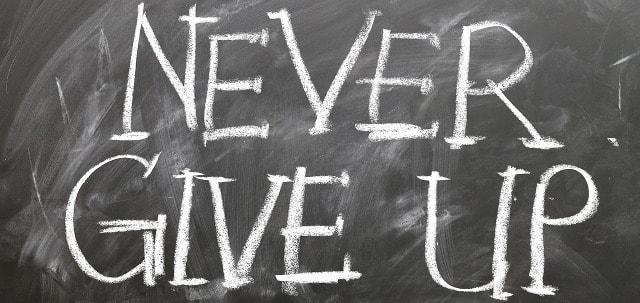 Nicht aufgeben