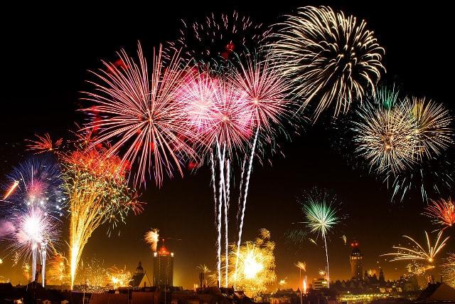 Luftverschmutzung Feuerwerk